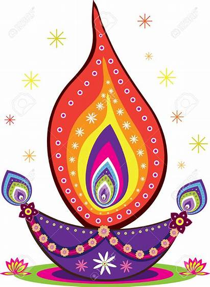 Diwali Clipart Candle Clip Vector Indian Pattern