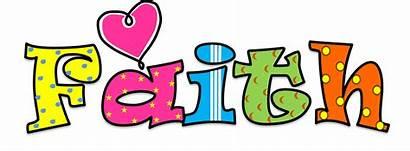 Clipart Clip Word Words Faith Transparent Creationz