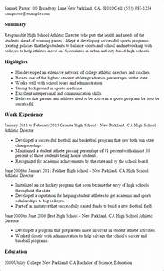 professional high school athletic director templates to With athletic resume template
