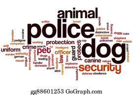 stock illustration cartoon police dog watchdog bulldog