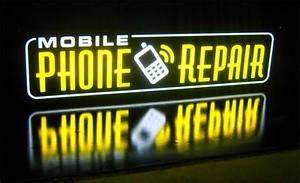 New LED Mobile Phone Repair Yellow Smart iPhone Cell Sign