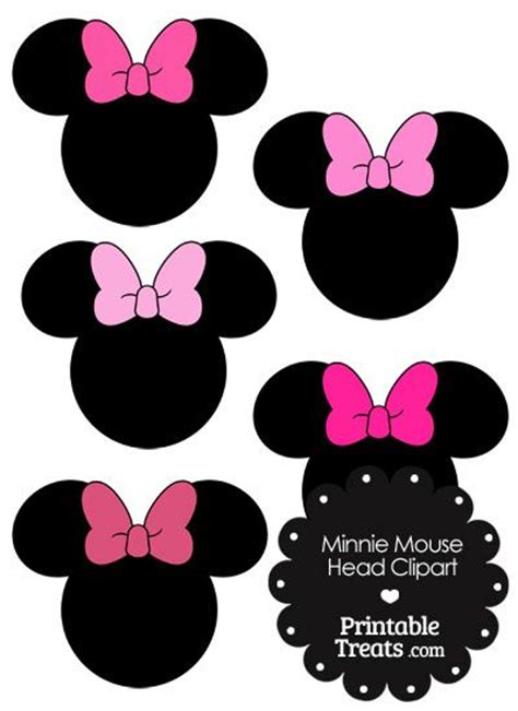 minnie mouse head clipart  pink bows
