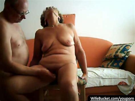 Real Couple Having Sex On Their Orange Sofa Free Porn