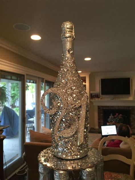 decorative bottles glitter champagne bottle spray