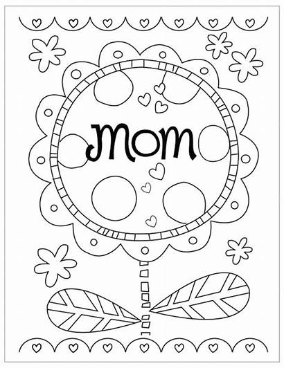 Coloring Mothers Pages Preschool