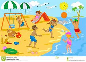 Children Swimming At The Beach Clipart | www.pixshark.com ...