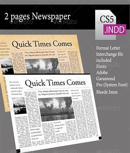 2 pages newsletter graphicriver With two page newsletter template
