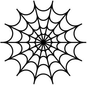 spider web template spider web stencil clipart best