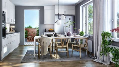 interior design modern kitchen dining room combination