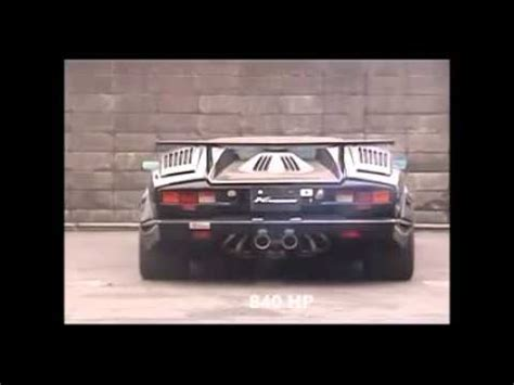 lamborghini countach exhaust sound  horspower youtube