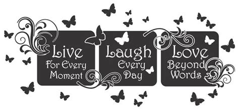 Made of wood and printed on linen. Live Laugh Love Floral Mural Quote...Vinyl Wall Art Decal Sticker Home Decor