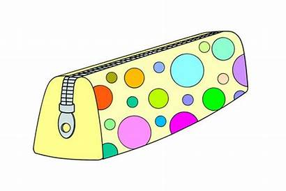 Pencil Case Clipart Classroom Flashcards Objects Cartoon