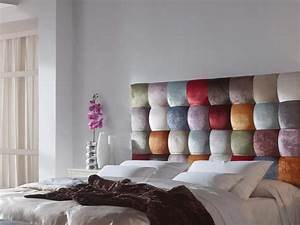 Tissu Pour Tete De Lit : t te de lit garnie en tissu style patchwork mod venezia ~ Preciouscoupons.com Idées de Décoration