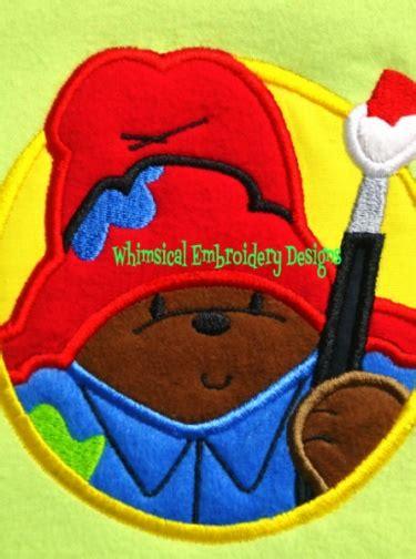 paddington bear applique machine embroidery designs instant  meylah