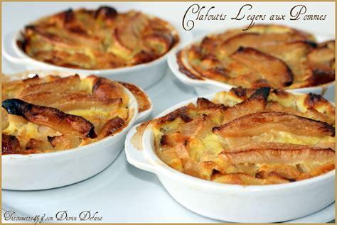 dessert leger aux pommes clafoutis l 233 gers aux pommes les recettes de titounette45
