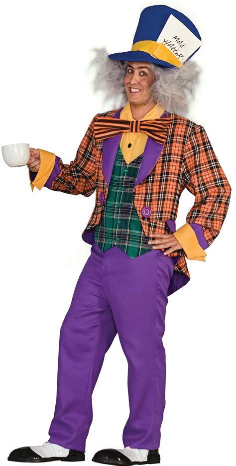 Plaid Mad Hatter Adult Costume One Size Costumescomau