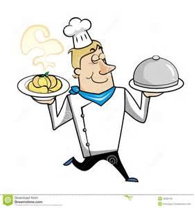 Cartoon Pasta Chef