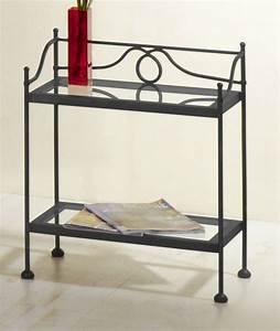 Nachttisch Weiß Metall : hoher nachttisch in wei aus metall und glas san pedro ~ Markanthonyermac.com Haus und Dekorationen
