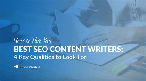 Seo Content by Seo Content Writers 4 Qualities They Must Possess To Rock