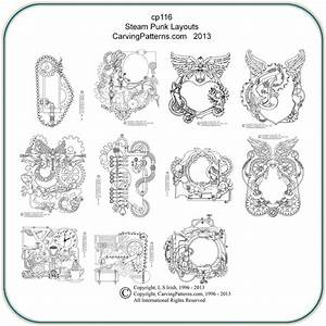 Steampunk, Layouts, Patterns, U2013, Classic, Carving, Patterns