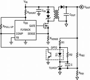 Power Supply - Adjustable Current Limiting In Flyback Converter Using Tl431