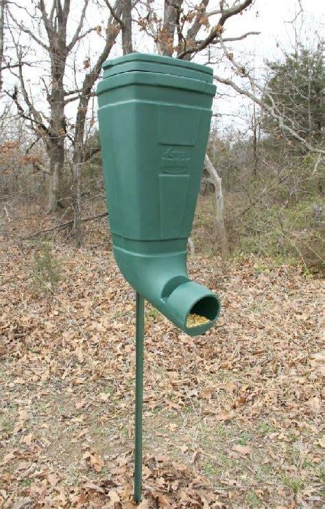 gravity deer feeders t post gravity wildlife and deer feeder corn