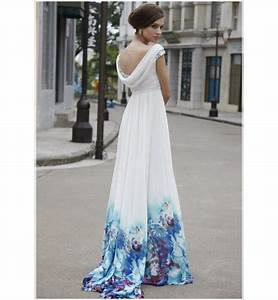 image detail for cute blue white tie dye long satin With tie dye wedding gowns