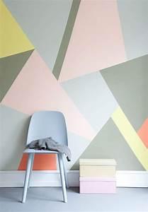 les 25 meilleures idees concernant mur geometrique sur With comment faire des couleurs avec de la peinture 9 inspiration une deco pastel et geometrique prima