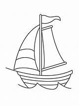 Segelboot sketch template