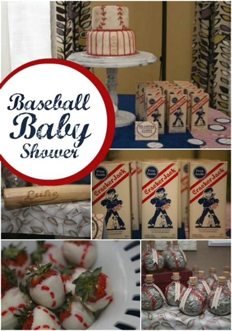 A Boy S Baseball Themed Baby Shower  Spaceships And Laser
