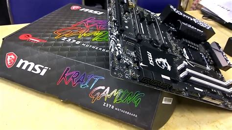 msi z370 krait gaming motherboard unboxing tech land youtube