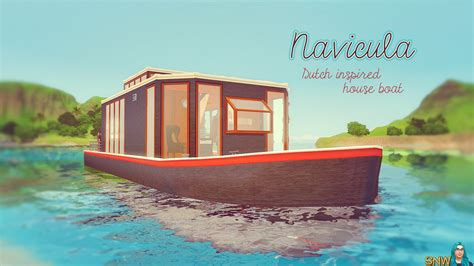 Houseboats Sims 3 by Navicula Houseboat Snw Simsnetwork