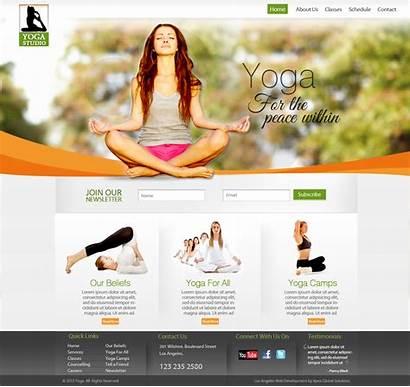 Yoga Website Designs Websites Web Studio Fitness