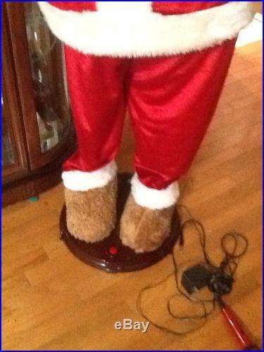animated santa bear  ft tall sings dances euc youll love