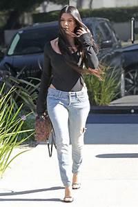 Kourtney Kardashian in Ripped Jeans - Leaving a Studio in ...