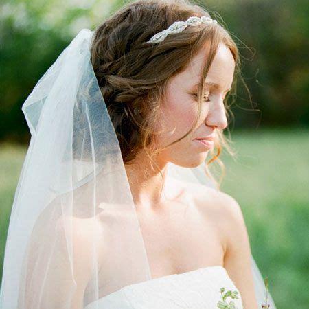 headband  veil loose curls hair updo hair heiress