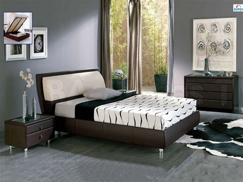 bedroom designs with brown furniture and photos