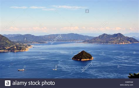 Seto Inland Sea In Japan As Seen From Mt. Misen At