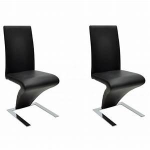 Chaise De Salon Design : 2 chaises de cuisine salon salle manger design noires helloshop26 1902017 vente de chaise ~ Teatrodelosmanantiales.com Idées de Décoration