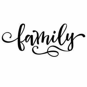 Silhouette Design Store - View Design #149318: family word