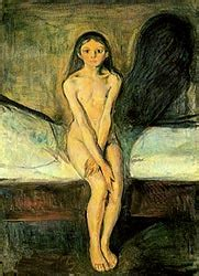 Edvard munch Gallery Anxiety Paintings Puberty