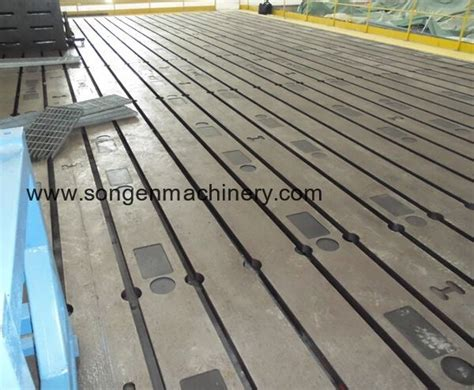slotted cast ironsteel floor plates bed plates  angle plates songen machinery