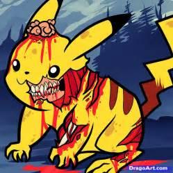 Zombie Pikachu Drawings