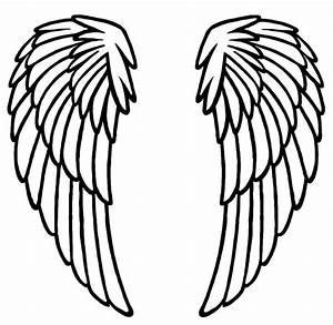 Angel Wing Stencil - ClipArt Best