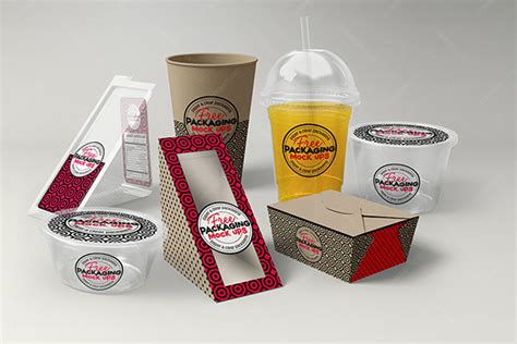 Free for personal and commercial glossy jar package free mockup to showcase your branding food packaging design in a photorealistic look. Fast Food Package Mock-up - Free PSD on Behance