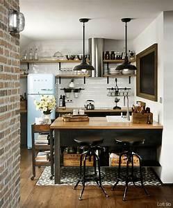 Cuisine Deco Industrielle : cuisine industrielle 43 inspirations pour un style industriel ~ Carolinahurricanesstore.com Idées de Décoration