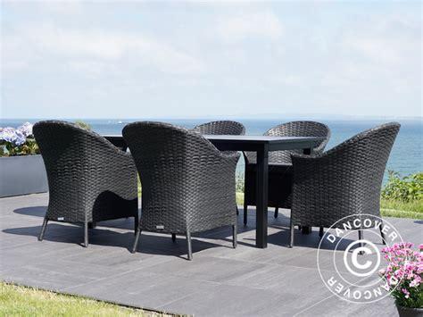 giardino nero set mobili da giardino tavolo da giardino 6 sedie da