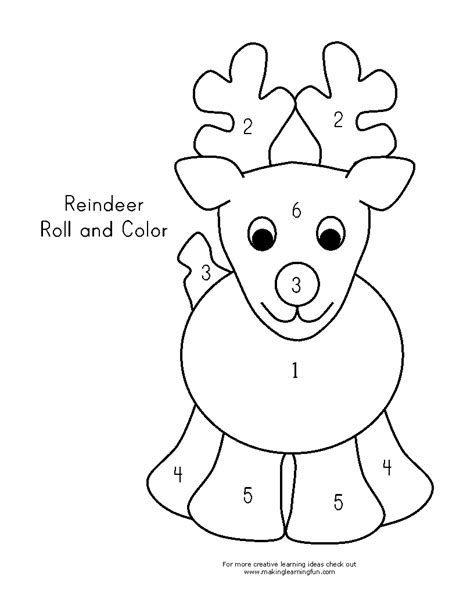 Reindeer Template Printable by A Reindeer Pattern Coloring Pages