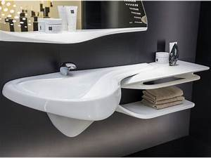 Waschbecken Kleines Badezimmer : badezimmer design waschbecken und abstellfl che verlaufen sanft ineinander badezimmer ~ Sanjose-hotels-ca.com Haus und Dekorationen