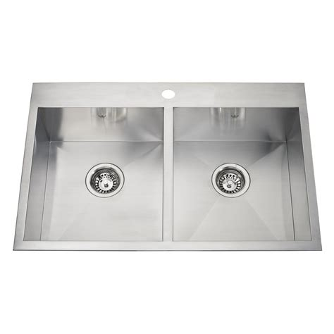 kitchen sink at lowes kindred 20 gauge drop in or undermount stainless steel